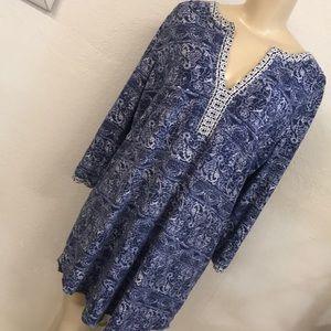 Lucky brand mid sleeve cotton dress